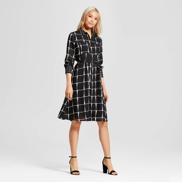 Who What Wear Dresses & Skirts - Who What Wear for Target Ruffle-Hem Shirt Dress